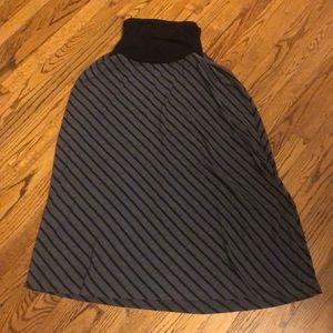 🤰Black/Gray Stripe Skirt MOTHERHOOD Maternity-XL